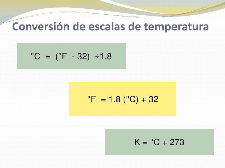 Conversión de escalas de temperatura