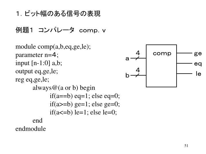 1.ビット幅のある信号の表現