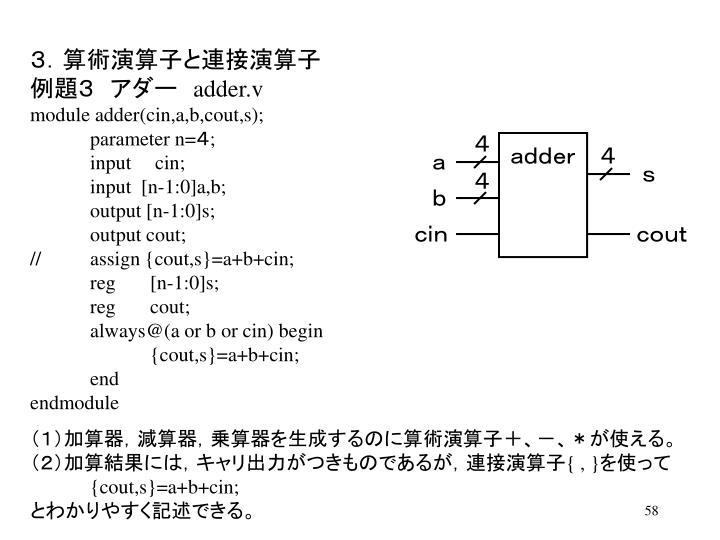 3.算術演算子と連接演算子