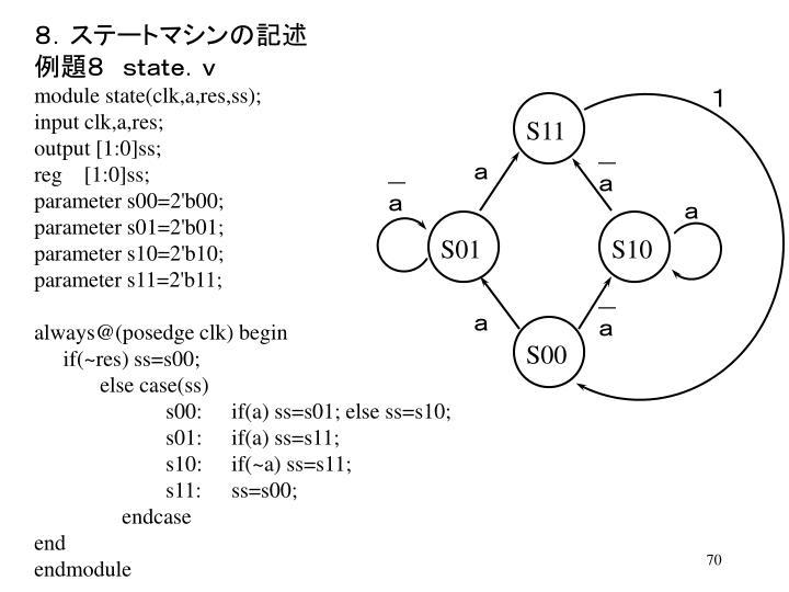 8.ステートマシンの記述