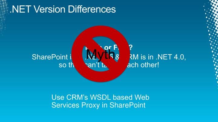 .NET Version Differences