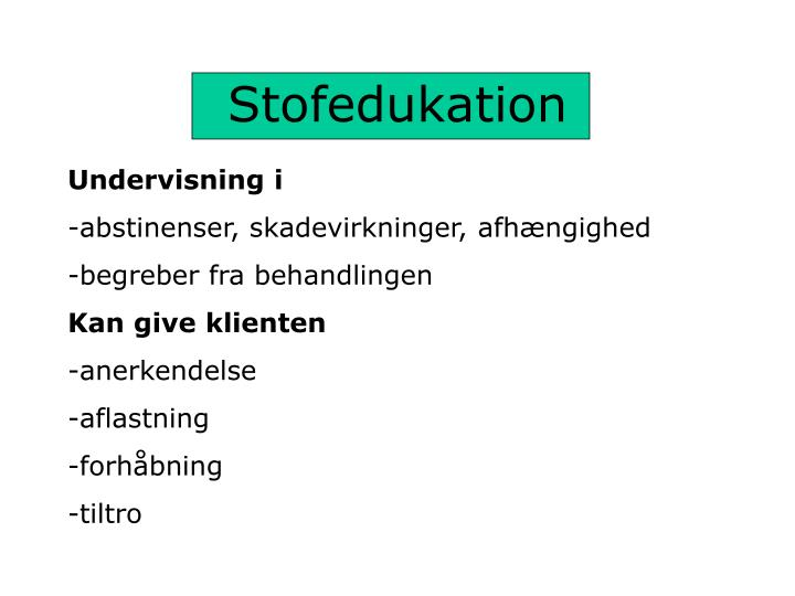 Stofedukation