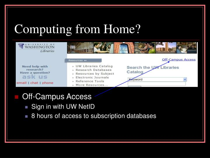 Computing from Home?