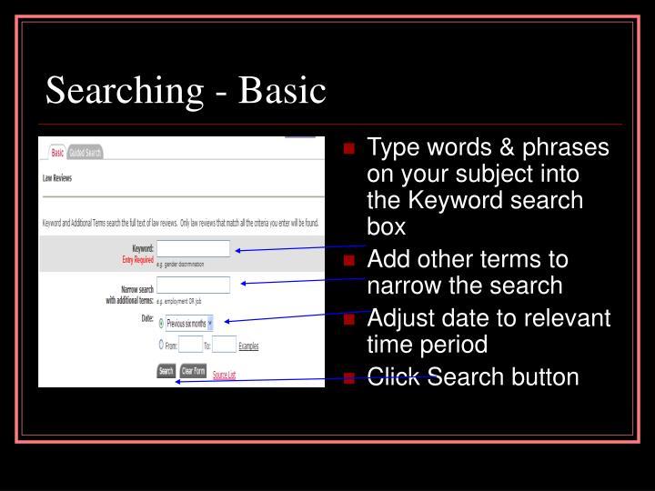 Searching - Basic