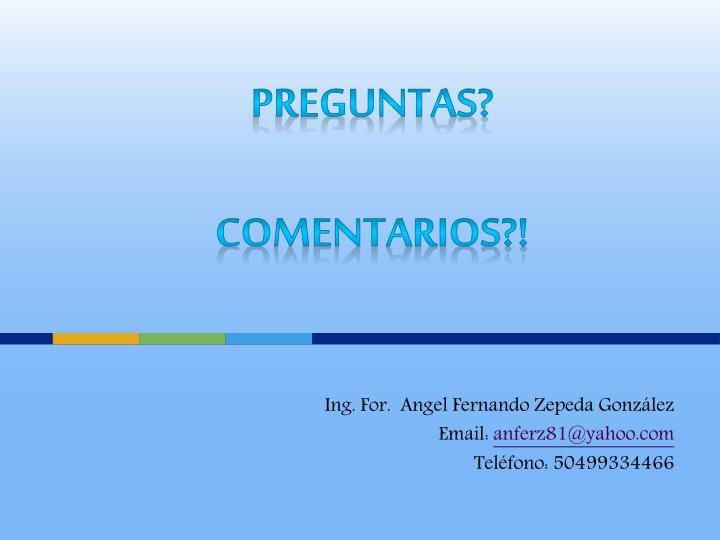 Ing. For.  Angel Fernando Zepeda González