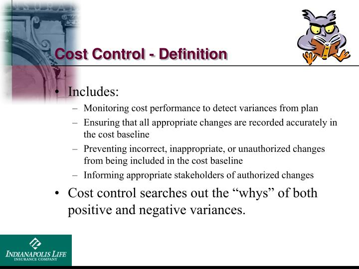 Cost Control - Definition