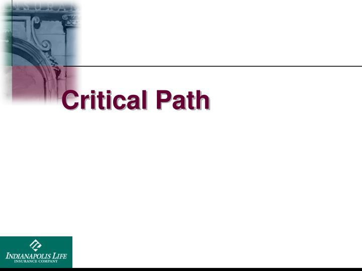 Critical Path