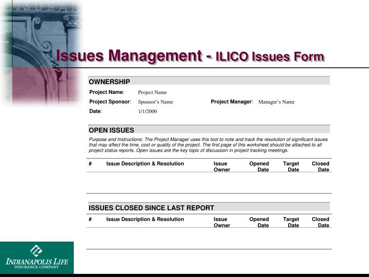 Issues Management -