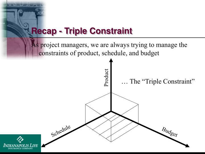 Recap - Triple Constraint