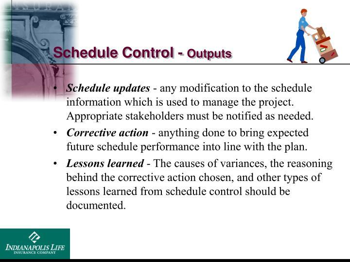 Schedule Control -