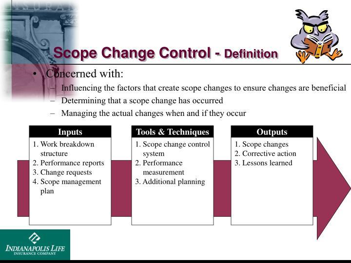 Scope Change Control -