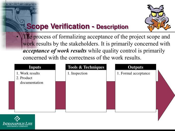 Scope Verification -