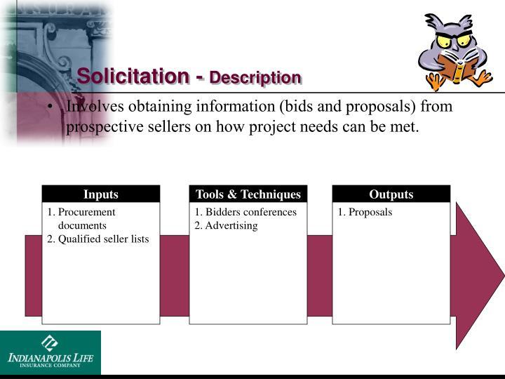 Solicitation -