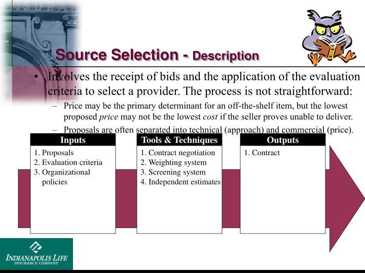 Source Selection -