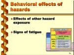 behavioral effects of hazards1