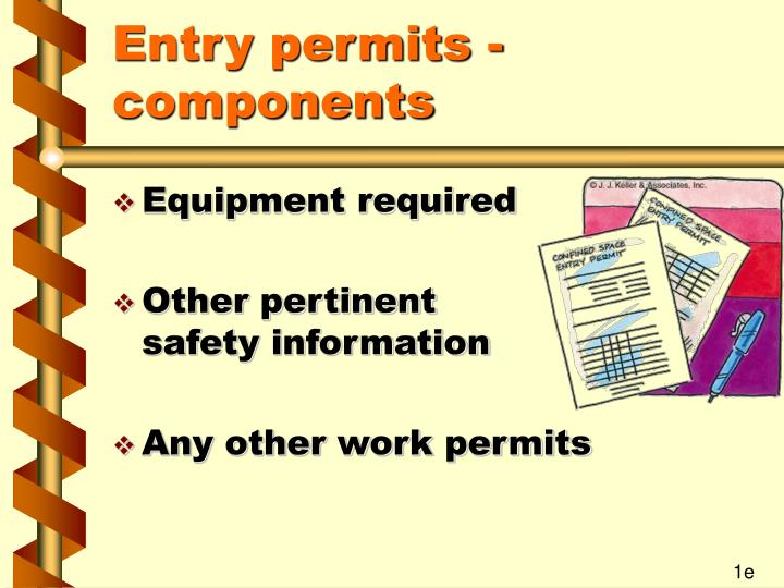 Entry permits - components