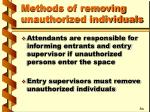 methods of removing unauthorized individuals