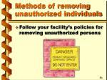 methods of removing unauthorized individuals1