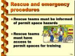 rescue and emergency procedures1