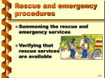 rescue and emergency procedures2