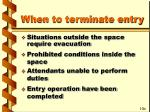 when to terminate entry1