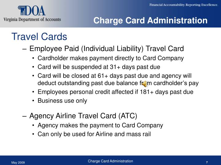 Charge Card Administration