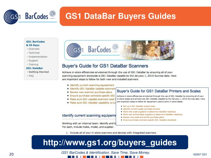 GS1 DataBar Buyers Guides