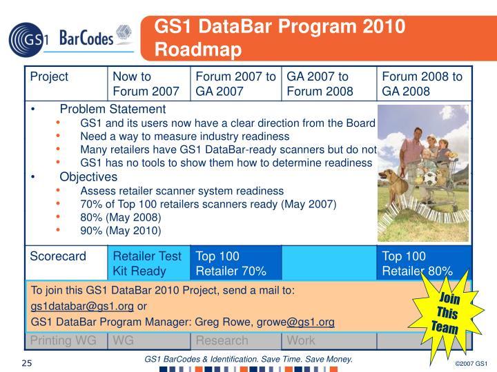 GS1 DataBar Program 2010 Roadmap