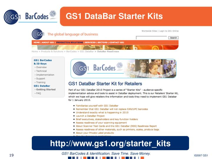 GS1 DataBar Starter Kits