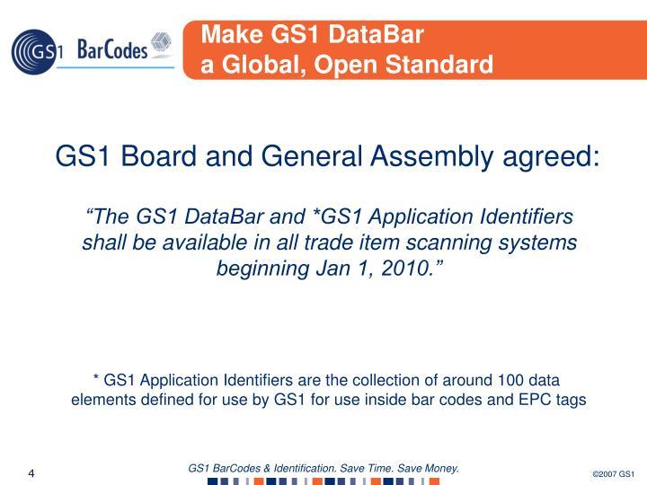 Make GS1 DataBar