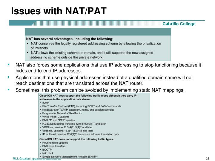 Issues with NAT/PAT