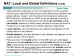 nat local and global definitions cont
