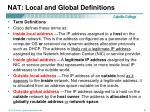 nat local and global definitions