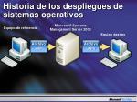historia de los despliegues de sistemas operativos1