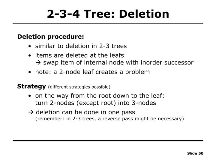 2-3-4 Tree: Deletion