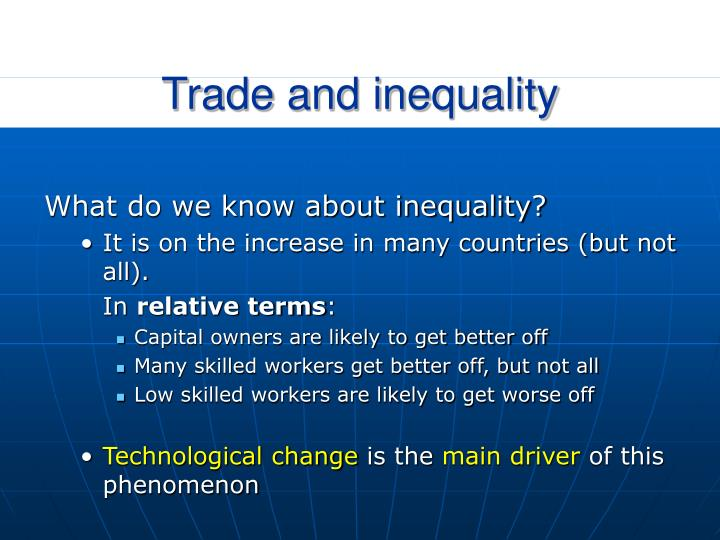 Trade and inequality
