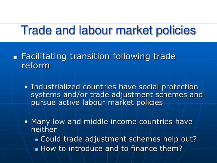 Trade and labour market policies