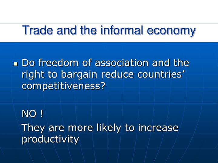 Trade and the informal economy