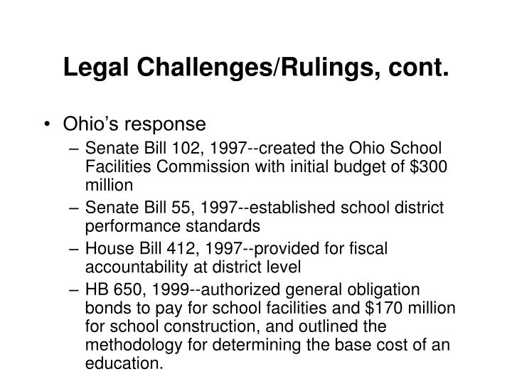 Legal Challenges/Rulings, cont.