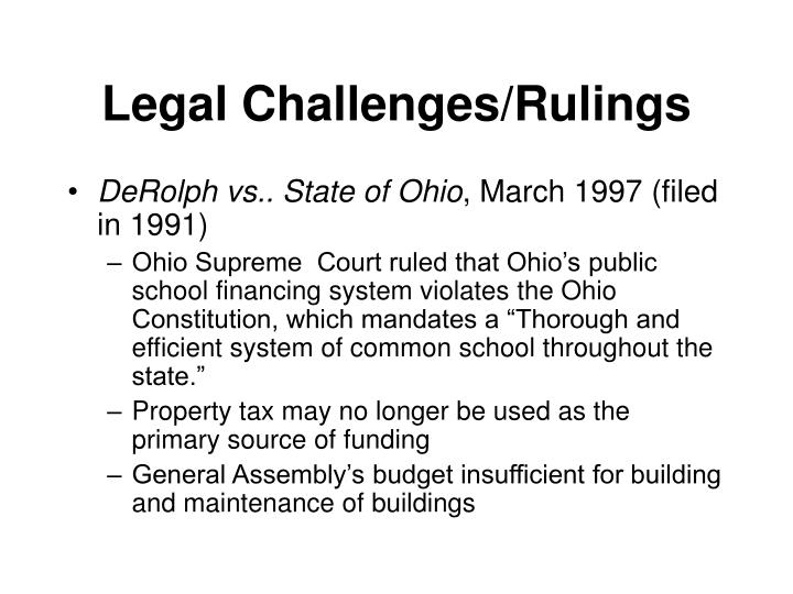 Legal Challenges/Rulings