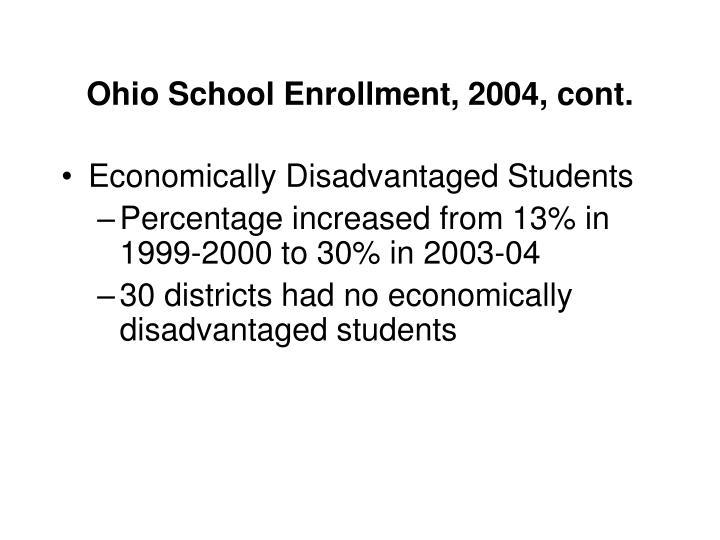 Ohio School Enrollment, 2004, cont.