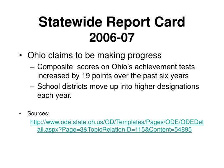 Statewide Report Card