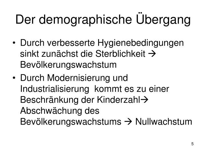 Der demographische Übergang