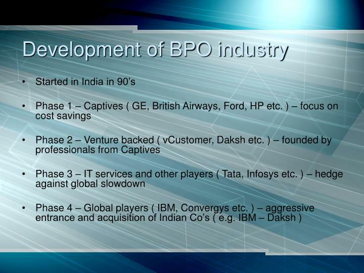 Development of BPO industry