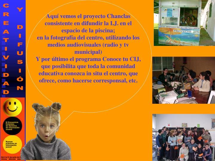 Aquí vemos el proyecto Chanclas