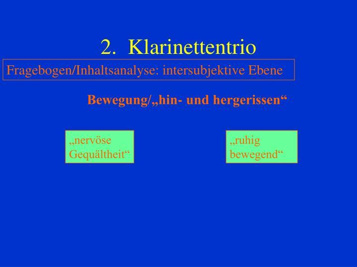 2.  Klarinettentrio