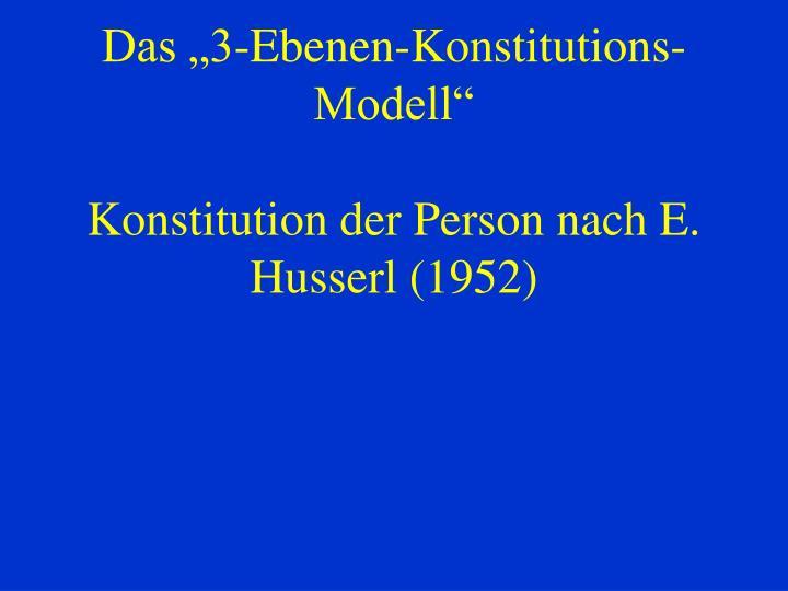 "Das ""3-Ebenen-Konstitutions-Modell"""