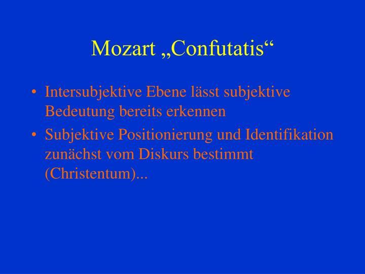 """Mozart """"Confutatis"""""""