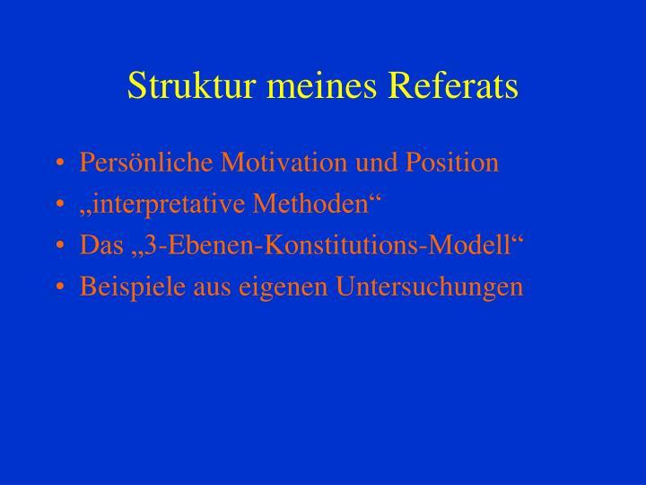 Struktur meines Referats