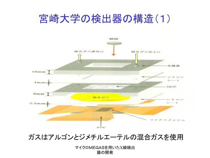 宮崎大学の検出器の構造(1)